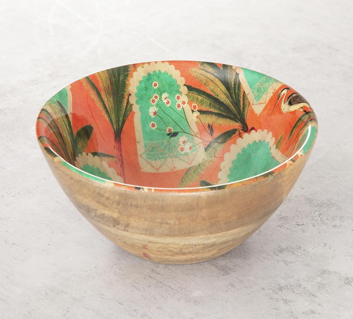India Circus Heron's Palace Wooden Bowl