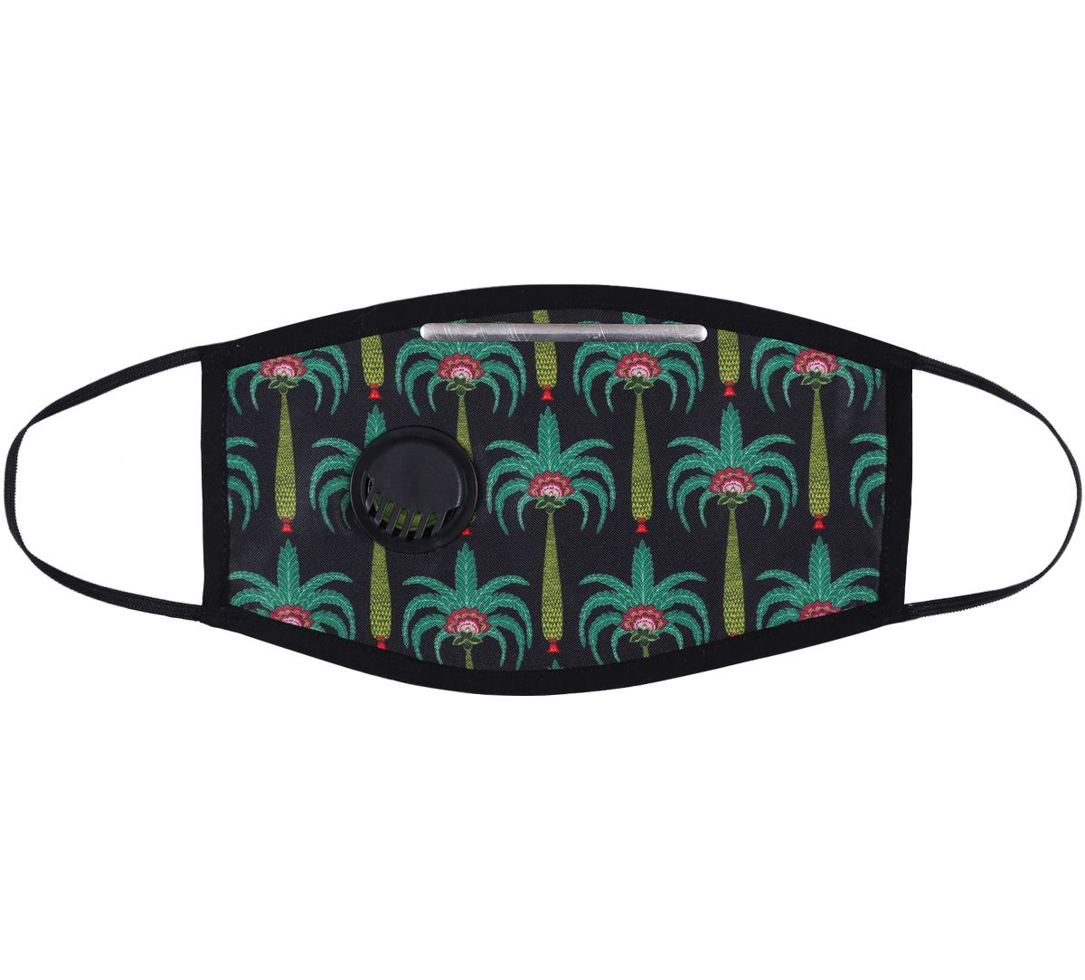 India Circus Island Palms Protective Face Mask with Breathing Valve