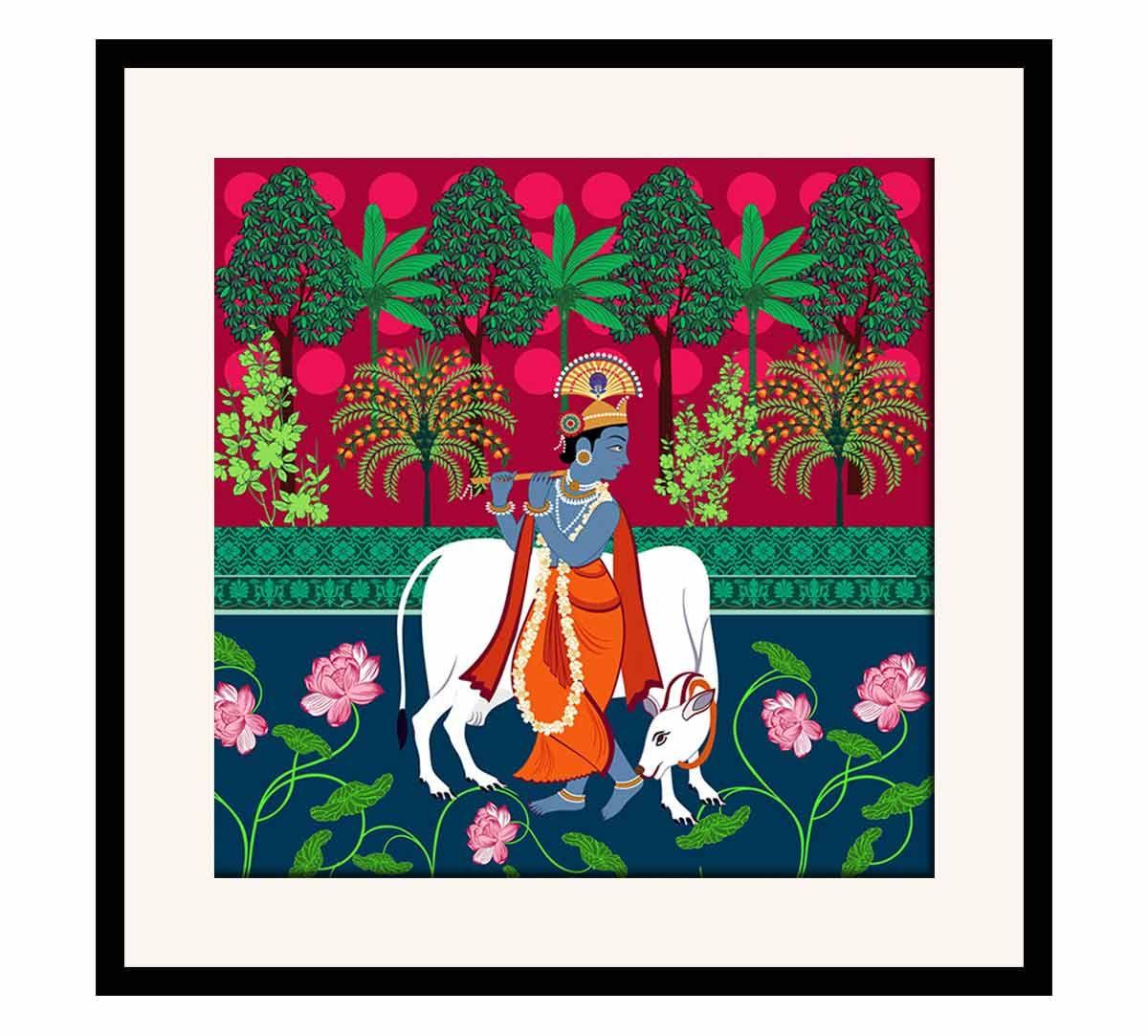 India Circus Kannah's Poetry Framed Wall Art