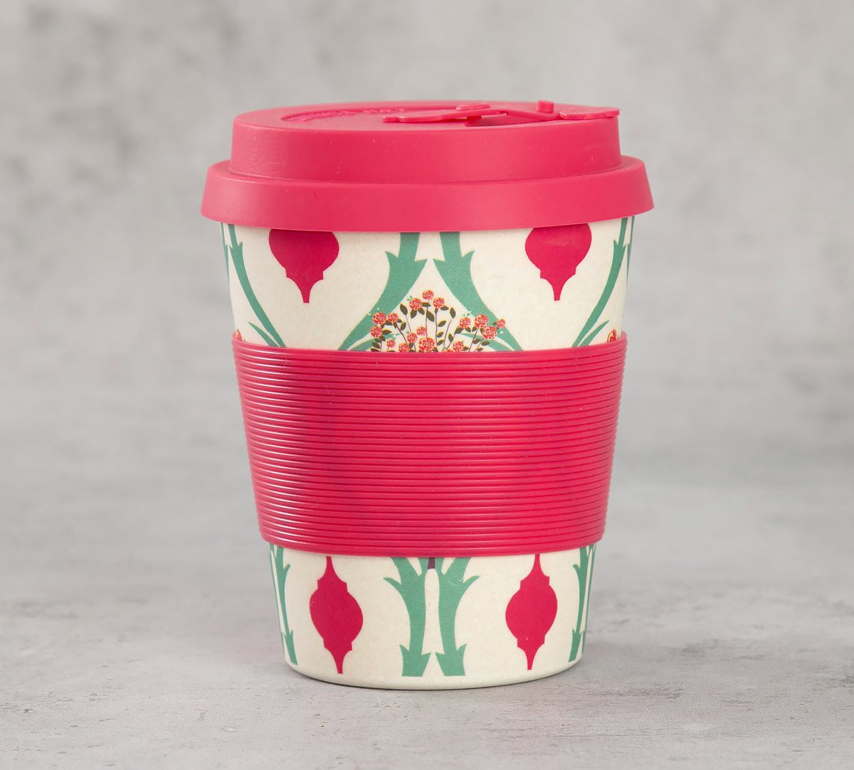 India Circus Lattice Blooms Bamboo Frankie Cup