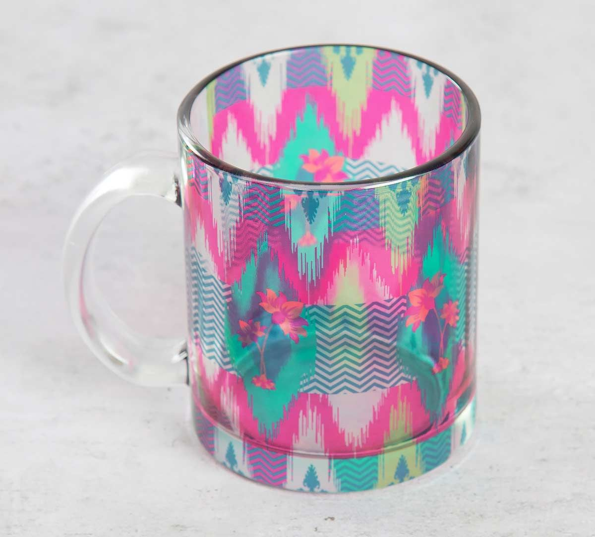 India Circus Lattice Chevron Mystery Glass Coffee Mug