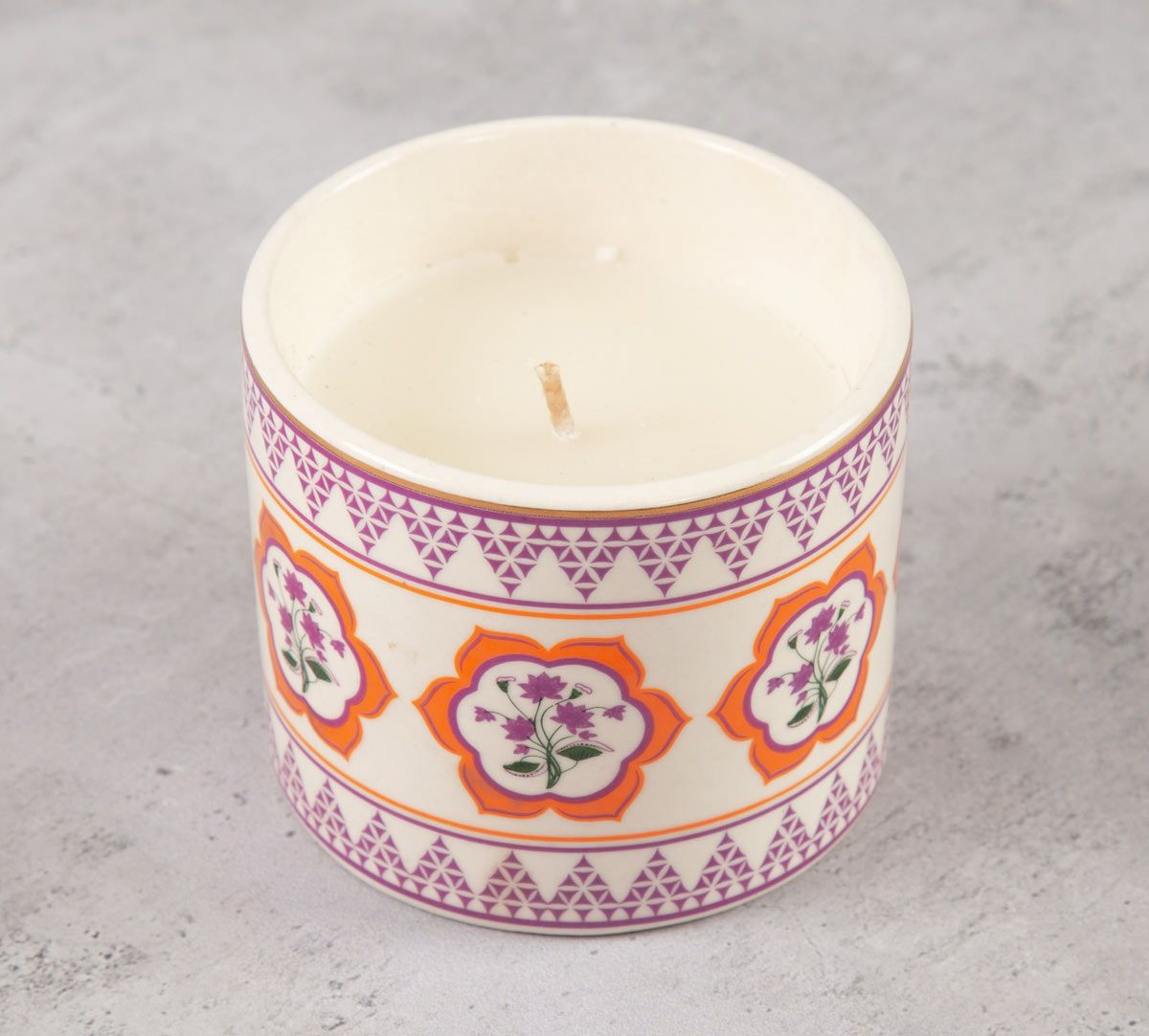 India Circus Lattice Lotus Candle Votive