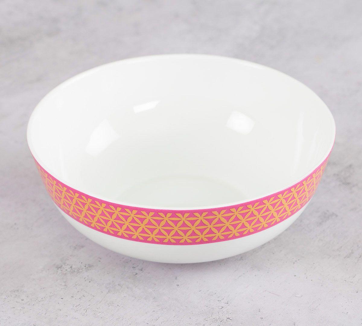India Circus Lattice Lotus Serving Bowl