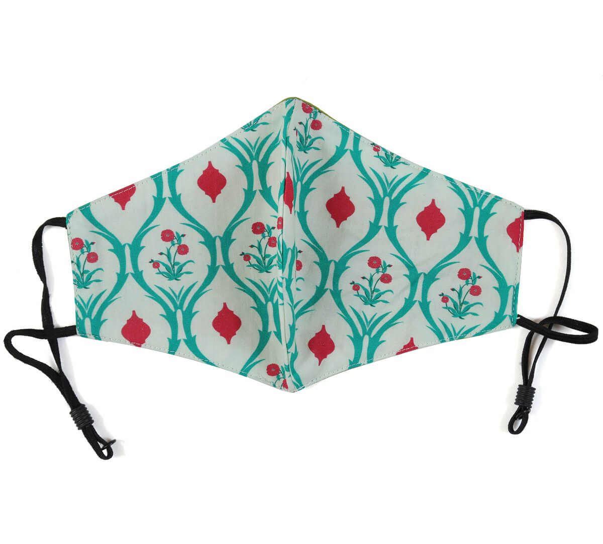 India Circus Lattice Roses Comfortable Outdoor Face Mask