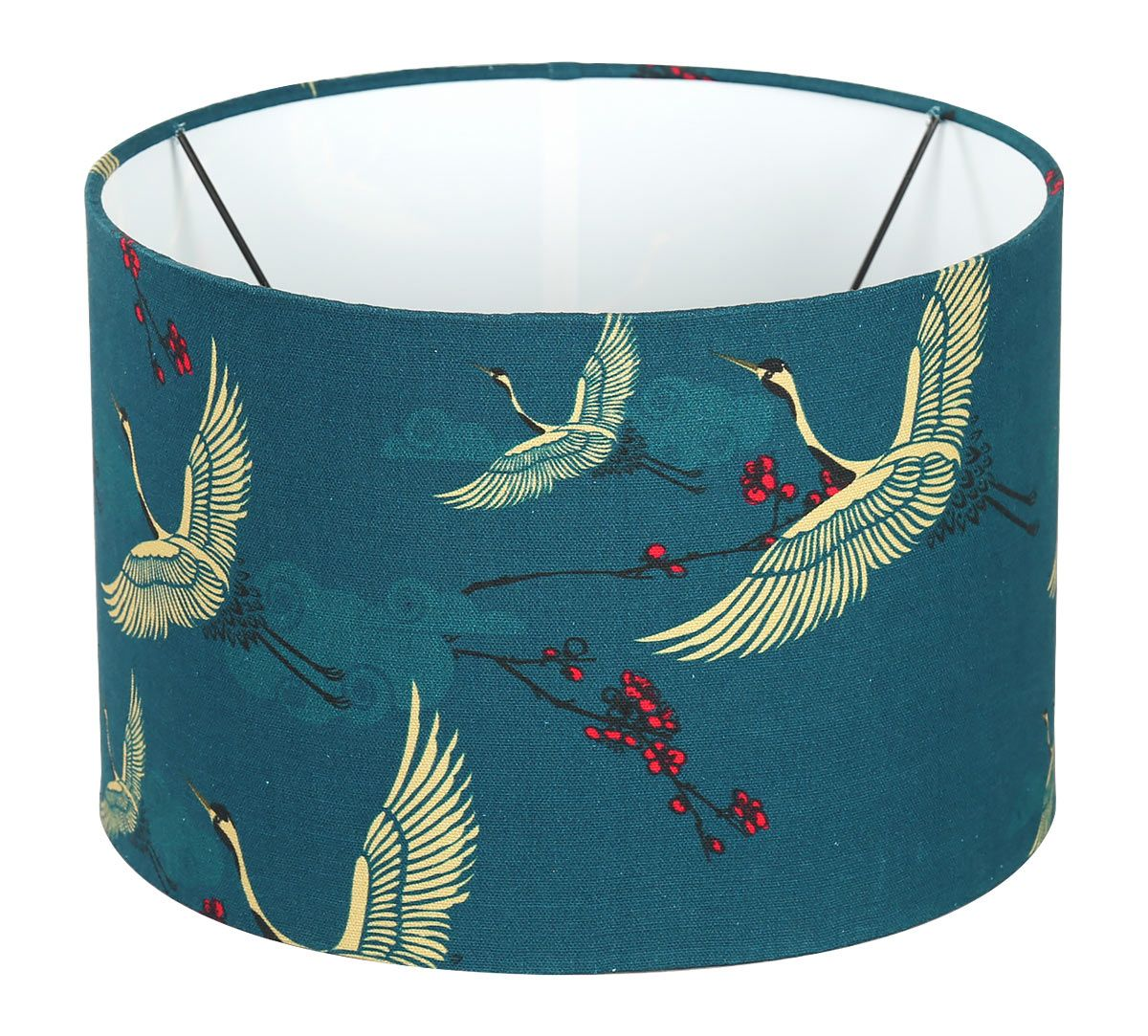 India Circus Legend of the Cranes Cylindrical Lamp Shade