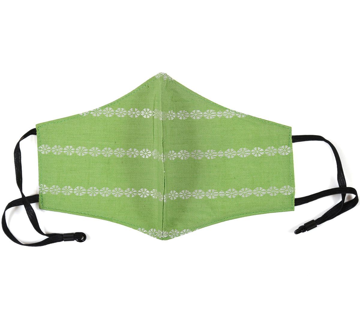 India Circus Lime Green Rui Phool Cotton Mask