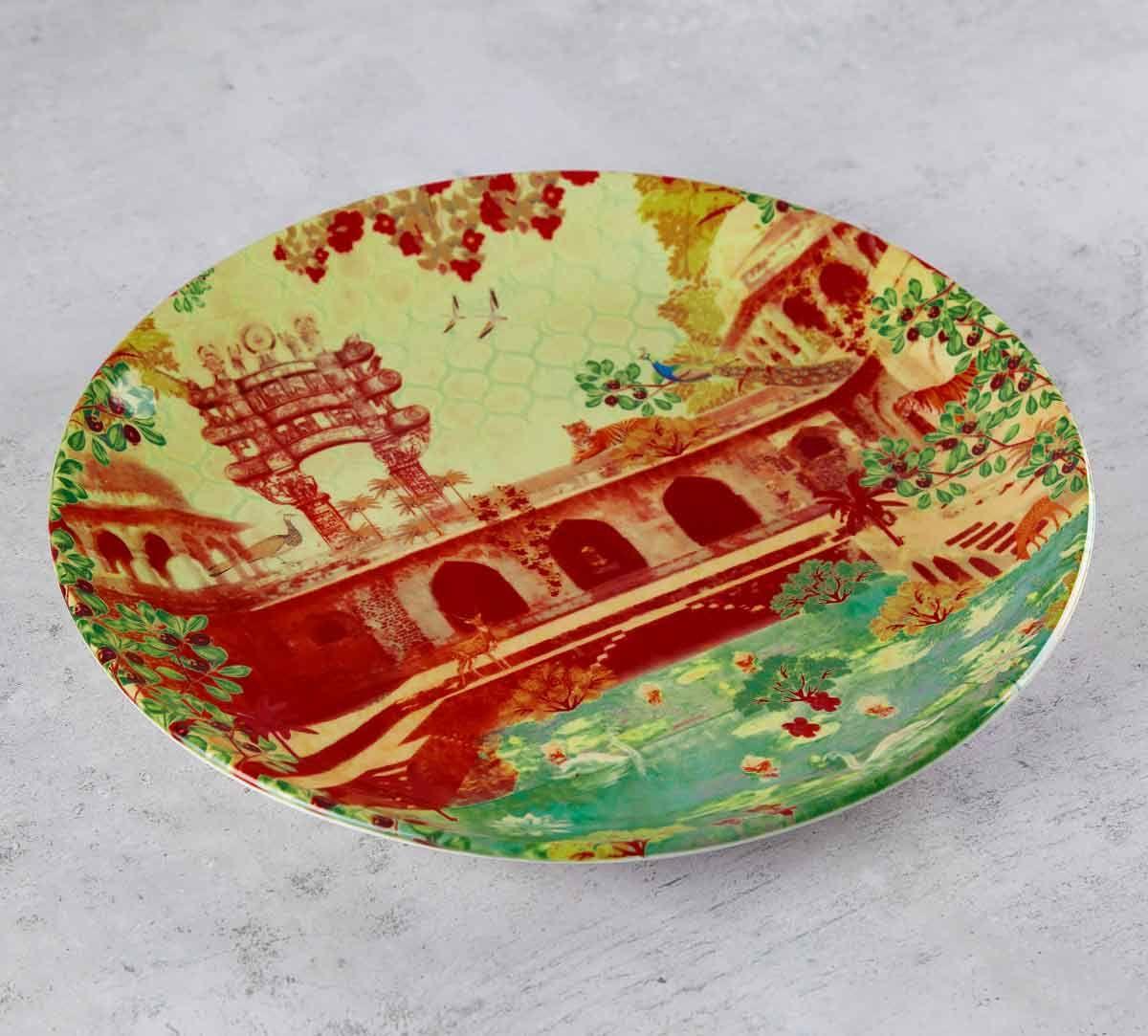 India Circus Mammalian Picnic 10 inch Decorative and Snacks Platter