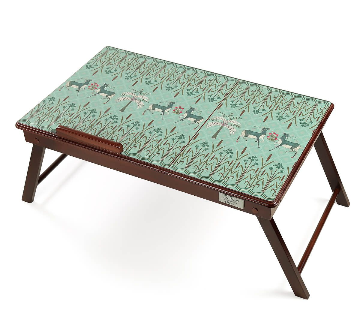 India Circus Mirroring Deer Garden Laptop Table