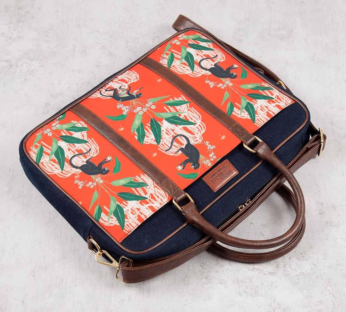 India Circus Monkey Games Laptop Bag