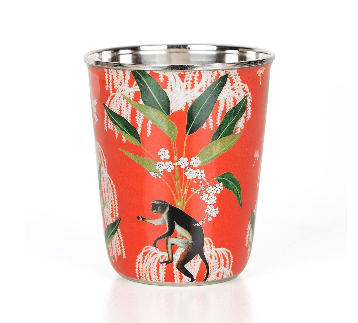 India Circus Monkey Games Small Steel Tumbler Set of 2