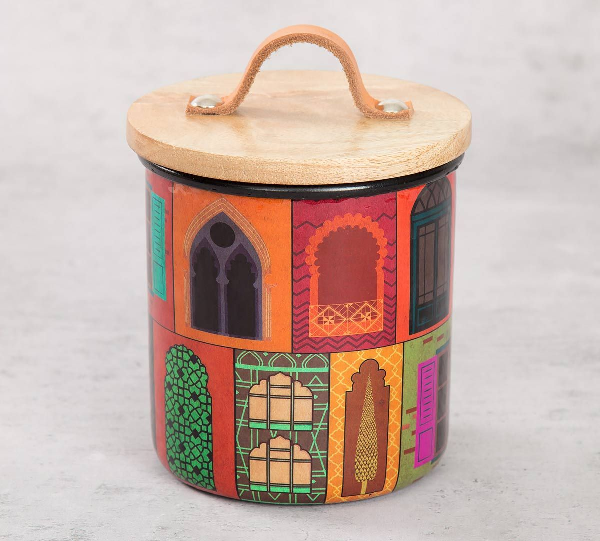 India Circus Mughal Doors Reiteration Cookie Jar