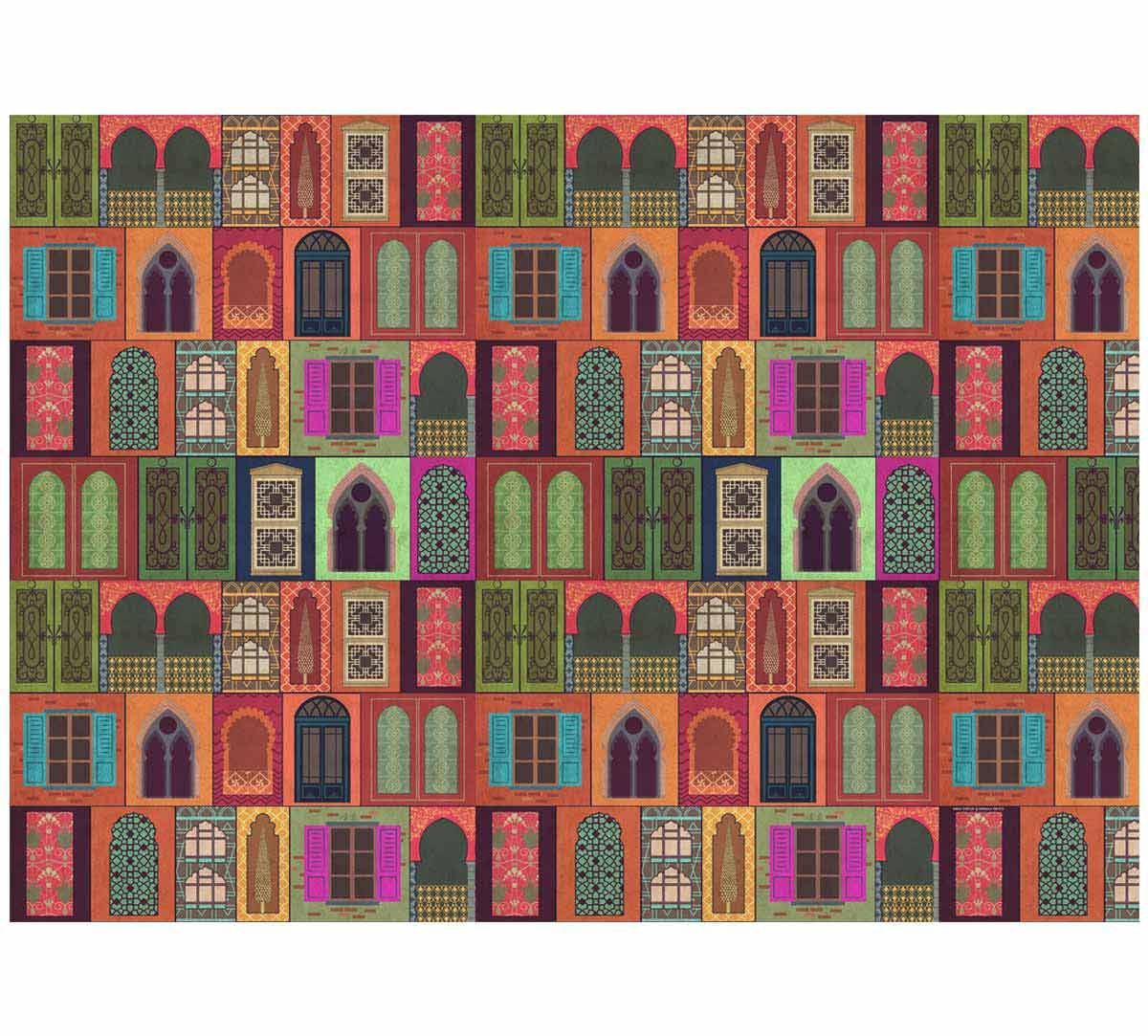 India Circus Mughal Doors Reiteration Gift Wrapping Paper