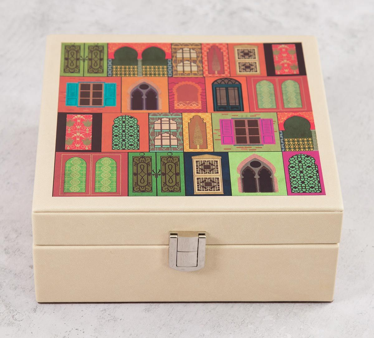 India Circus Mughal Doors Reiteration Leather Jewellery Box
