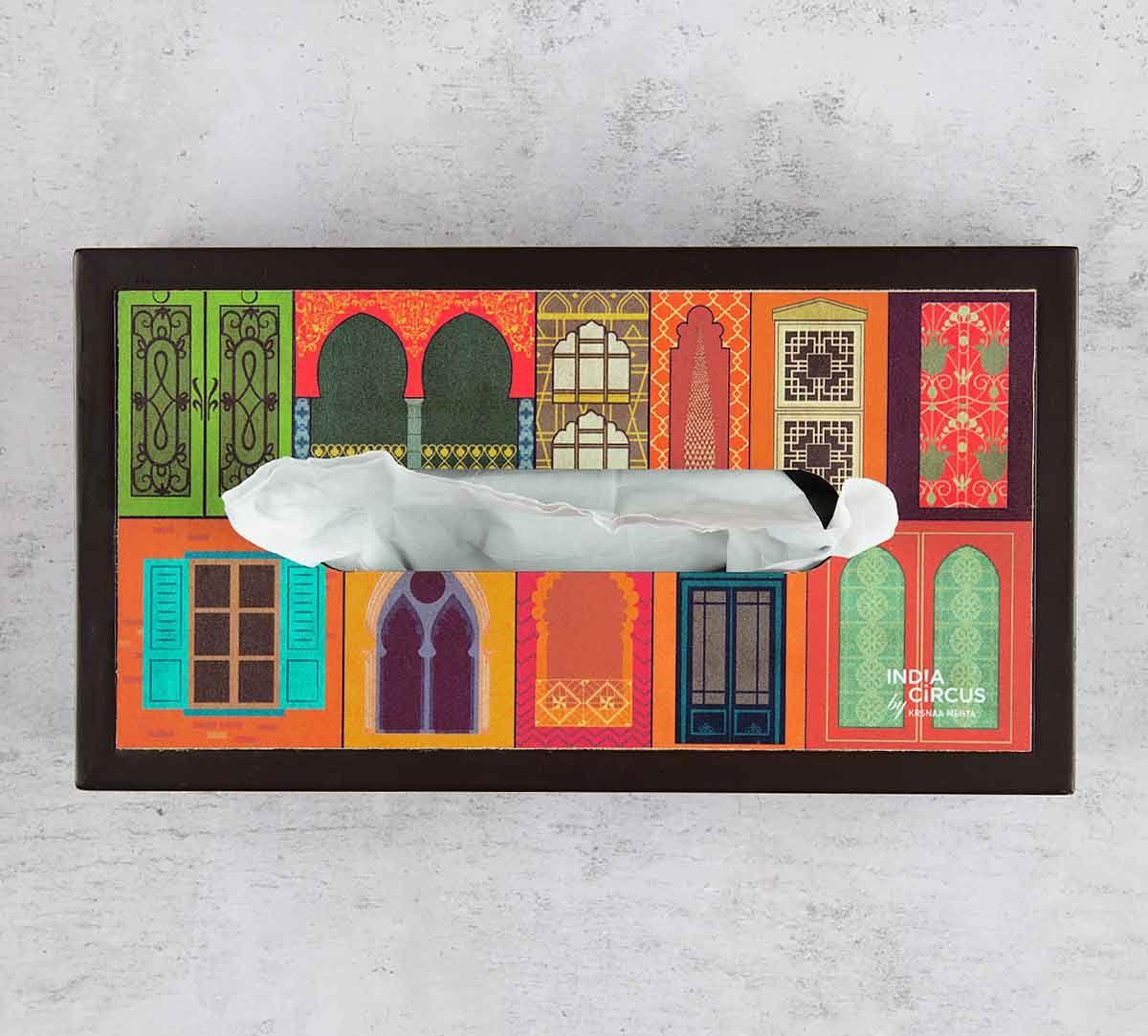 India Circus Mughal Doors Reiteration MDF Tissue Box Holder