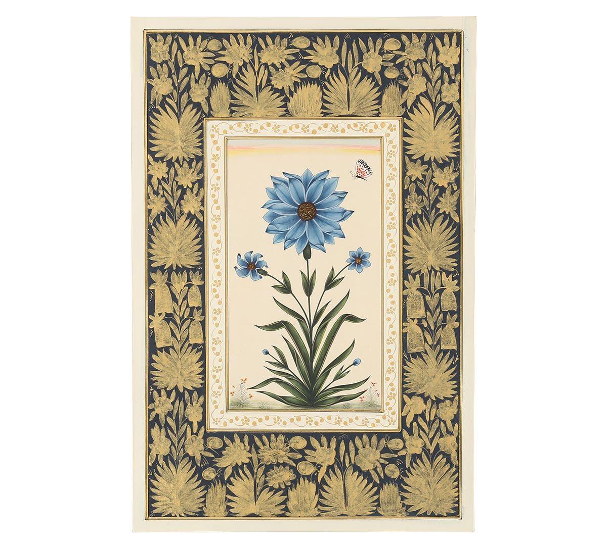 India Circus Mughal Flower Handmade Poster