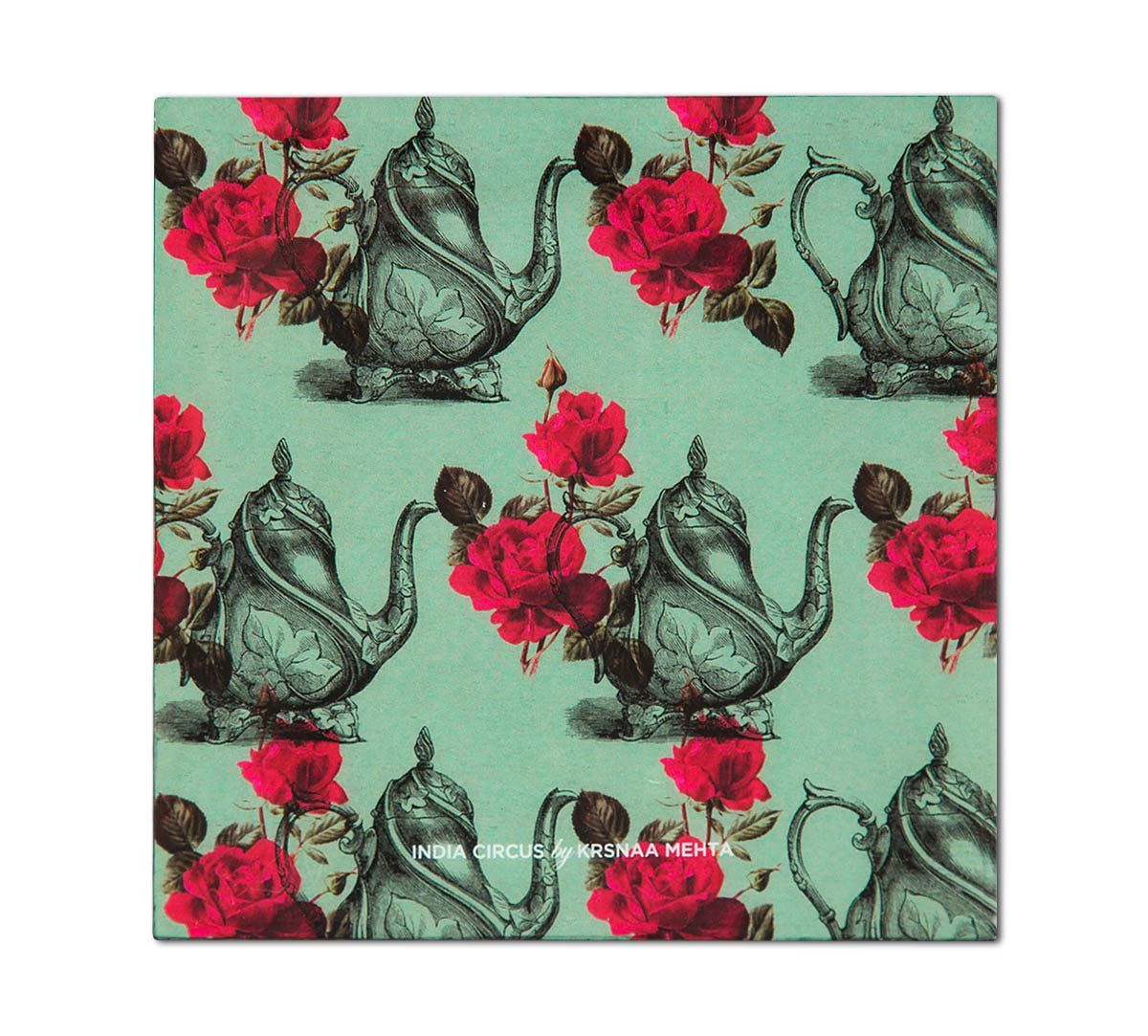 India Circus Mystic Rose Kettles Table Coaster