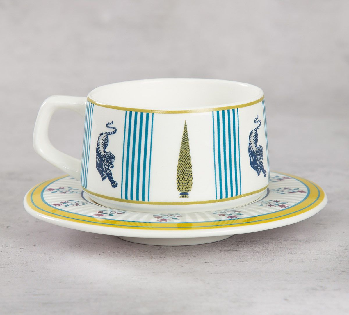 India Circus Mystical Garden Cup and Saucer (Set of 6)