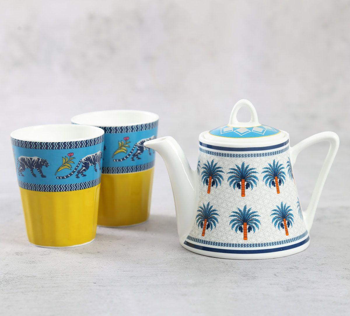 India Circus Mystical Garden Tea Kettle Set