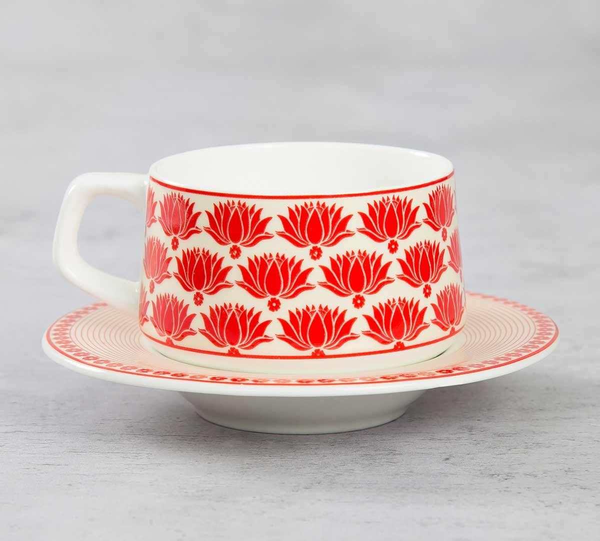 India Circus Mystique Flower Ambush Cup and Saucer