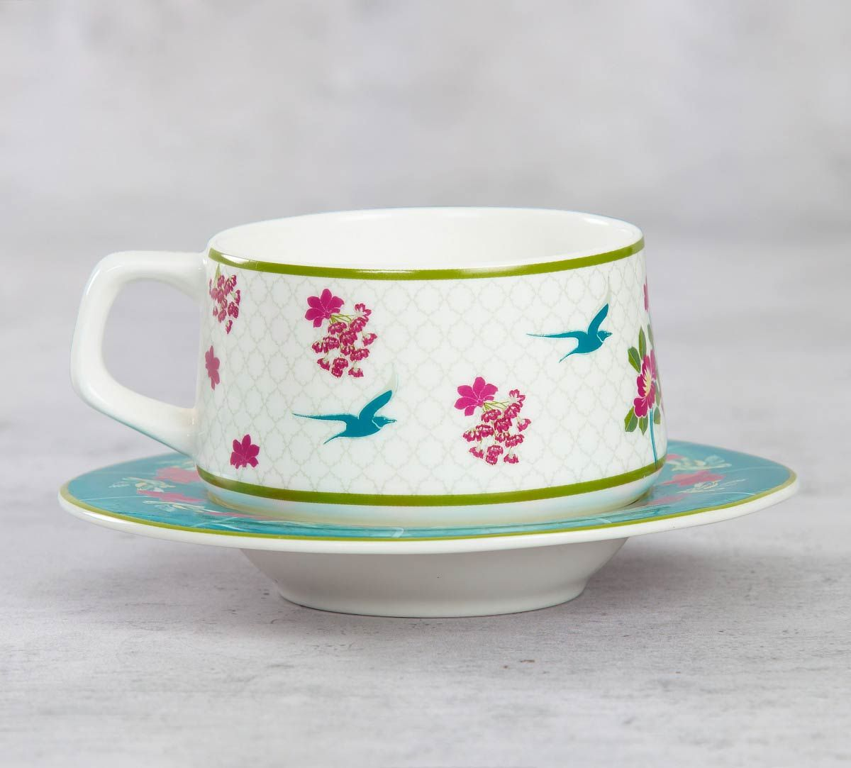 India Circus Natures Essence Paradise Cup and Saucer