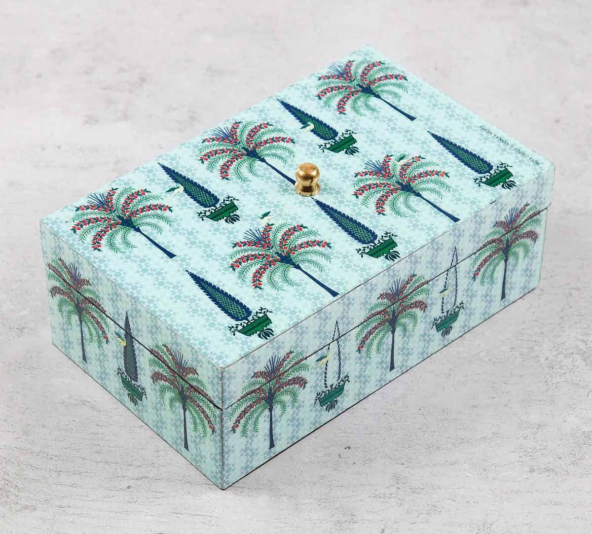 India Circus Palm Jumeirah Enameled Storage Box