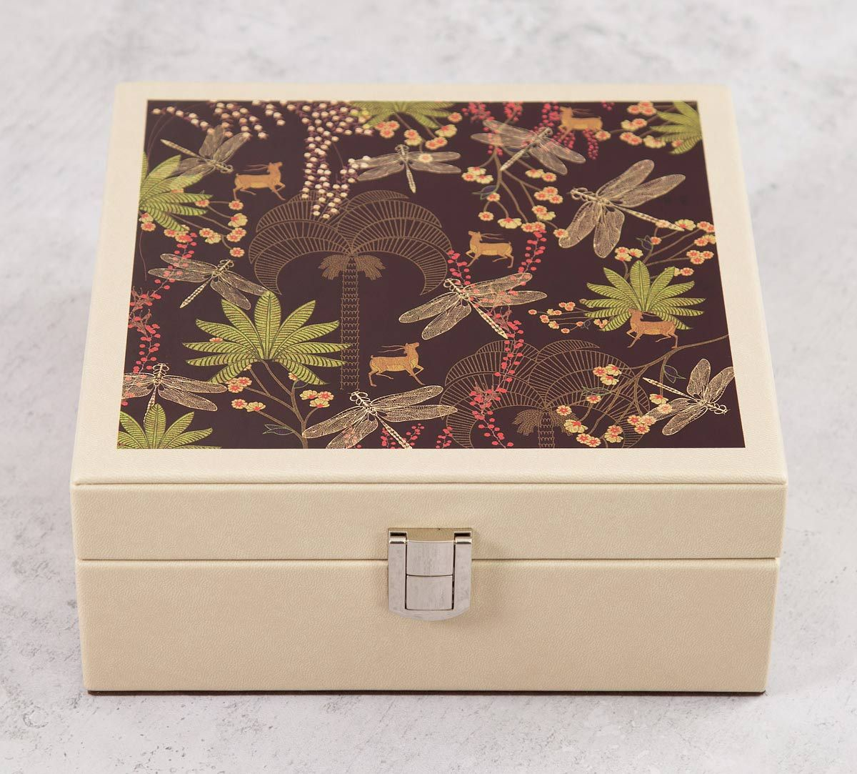 India Circus Palmeria Bloomer Leather Jewellery Box