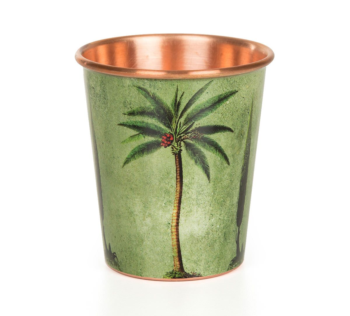 India Circus Palmeria Conifer Reiteration Small Copper Tumbler
