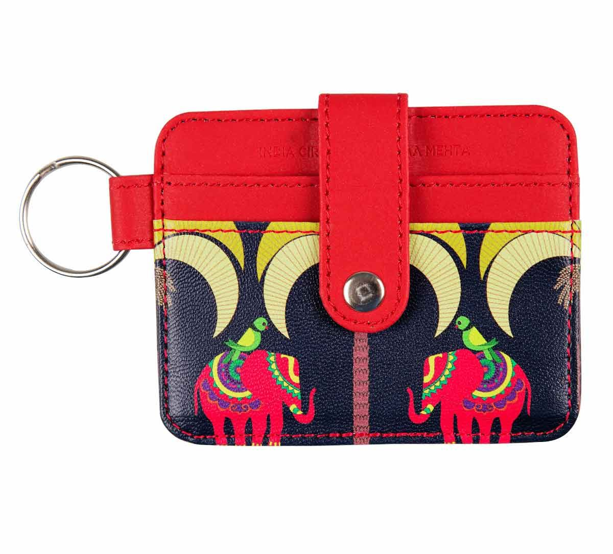 India Circus Palmeria Tusker Reiteration Keychain Card Holder
