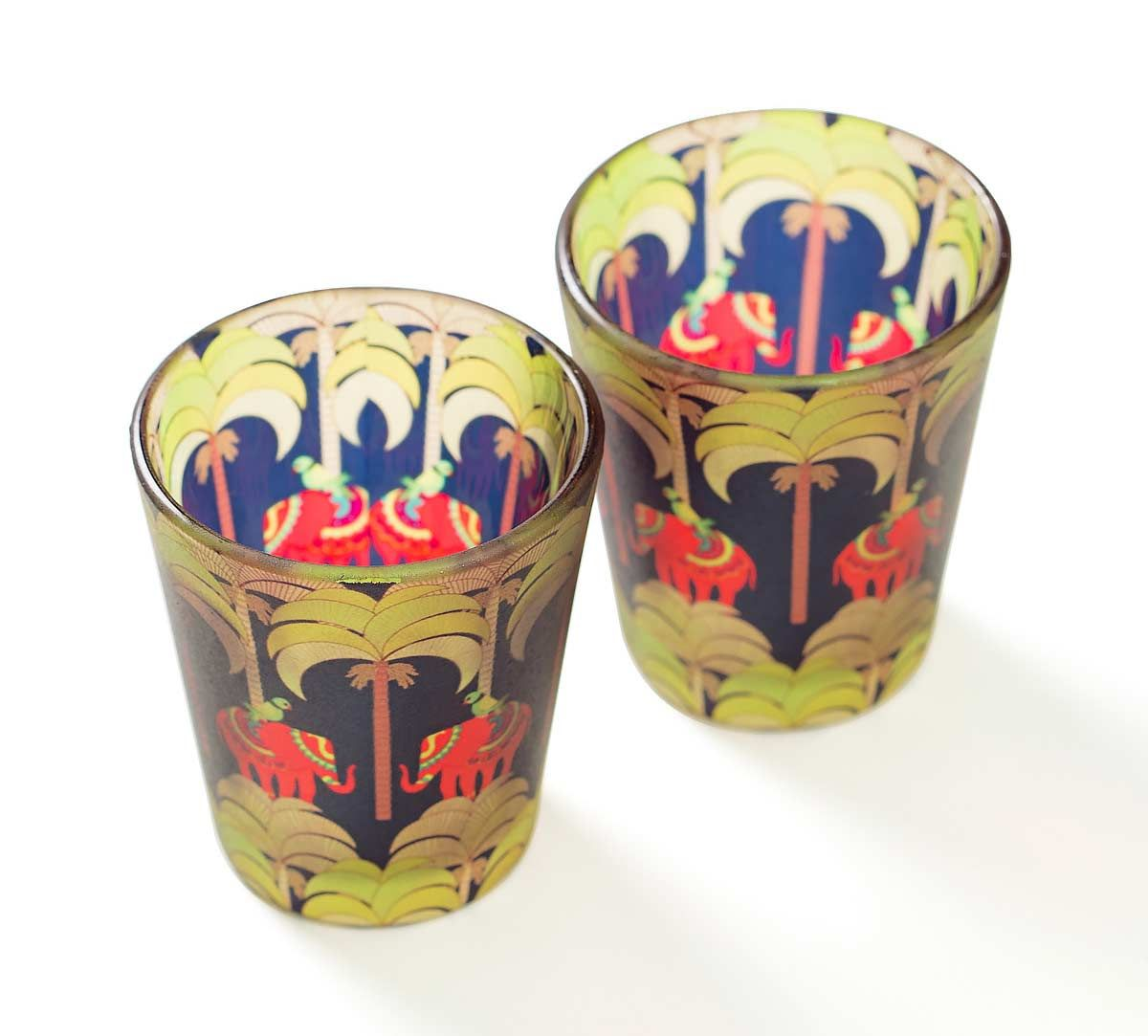 India Circus Palmeria Tusker Reiteration Shot Glasses Set of 2
