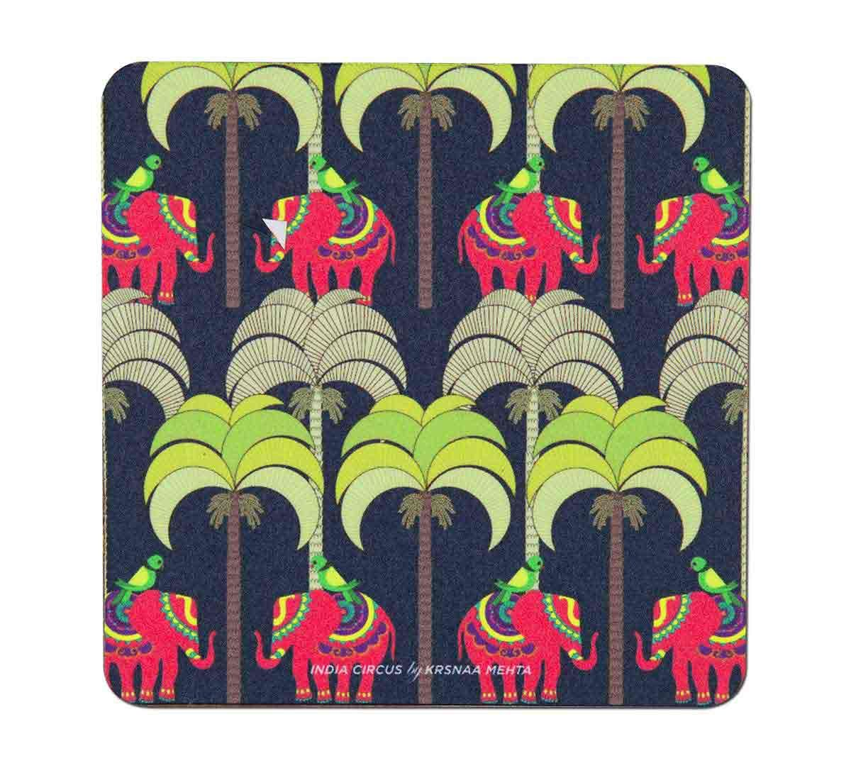 India Circus Palmeria Tusker Reiteration Table Coaster Set of 6