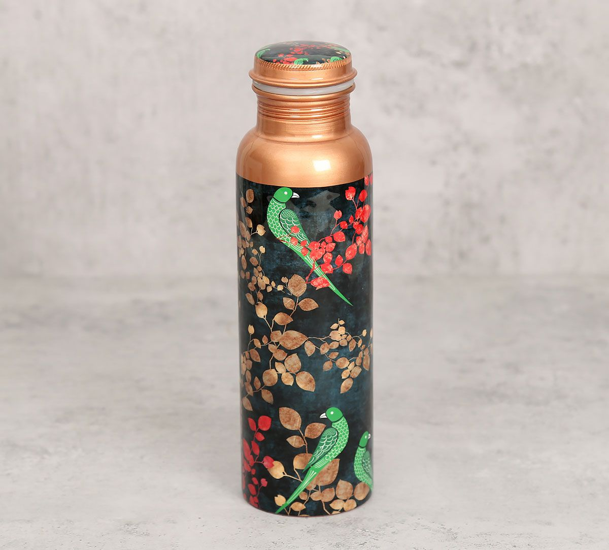 India Circus Parrots of the night Copper Bottle