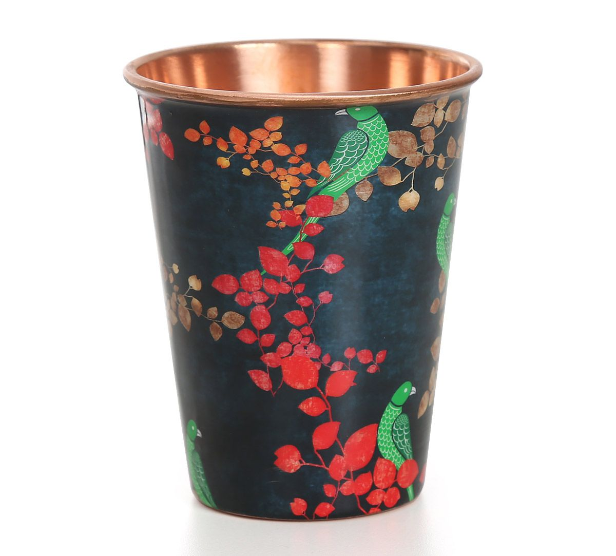 India Circus Parrots of the night Copper Tumbler