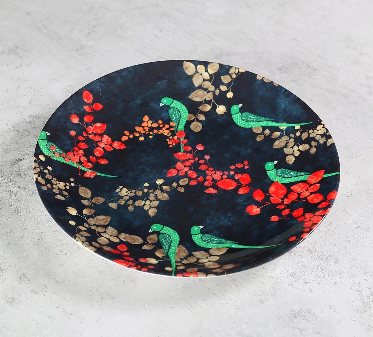 India Circus Parrots of the night Decor Plate