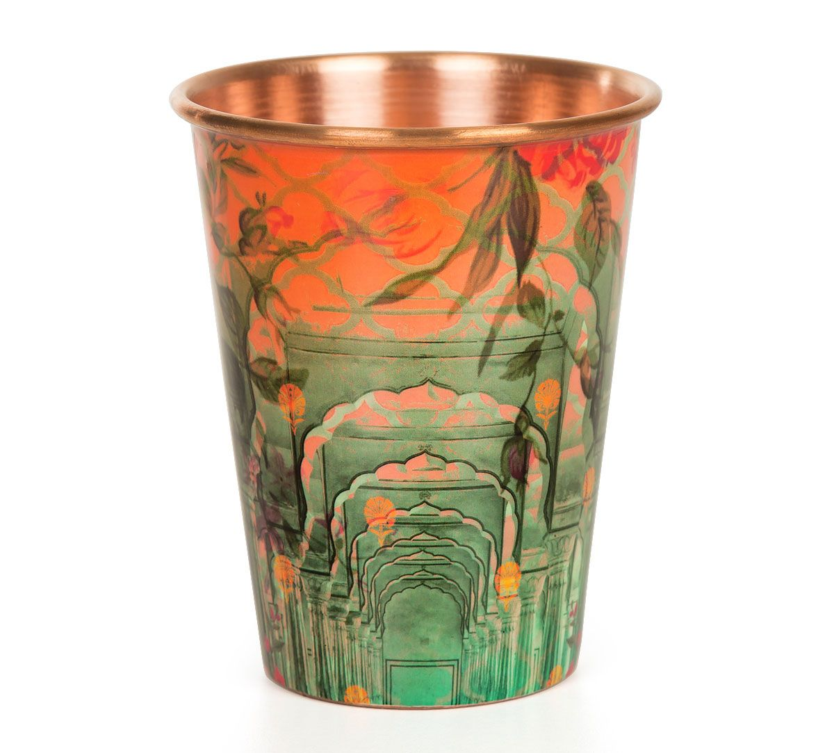 India Circus Peacock Dwar Copper Tumbler