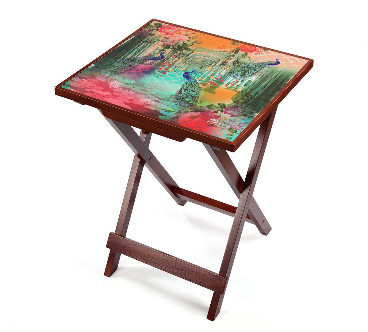 India Circus Peacock Dwar Side Table