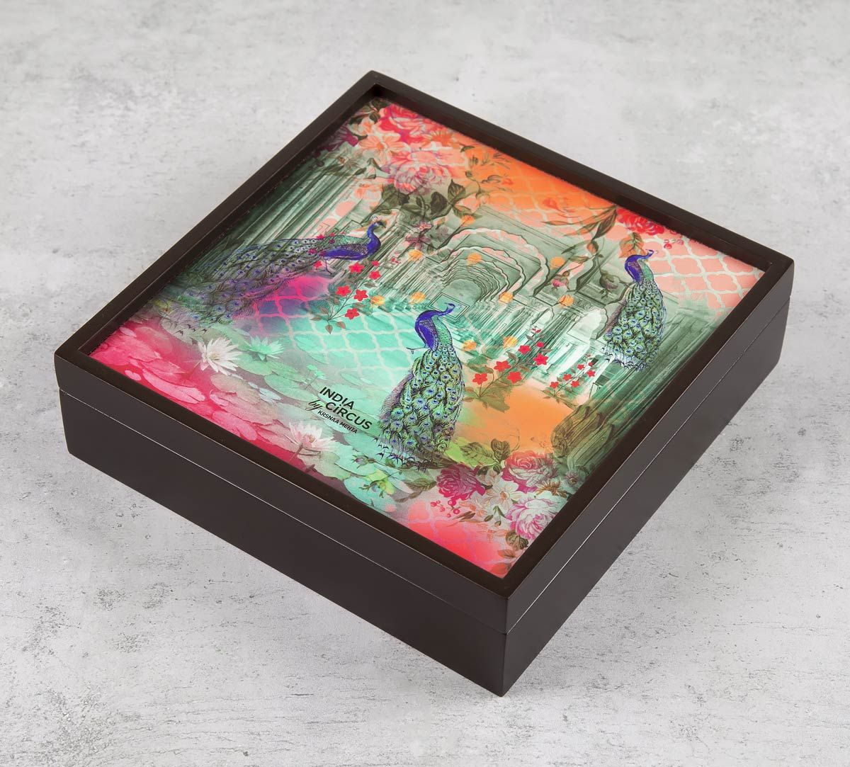 India Circus Peacock Dwar Storage Box