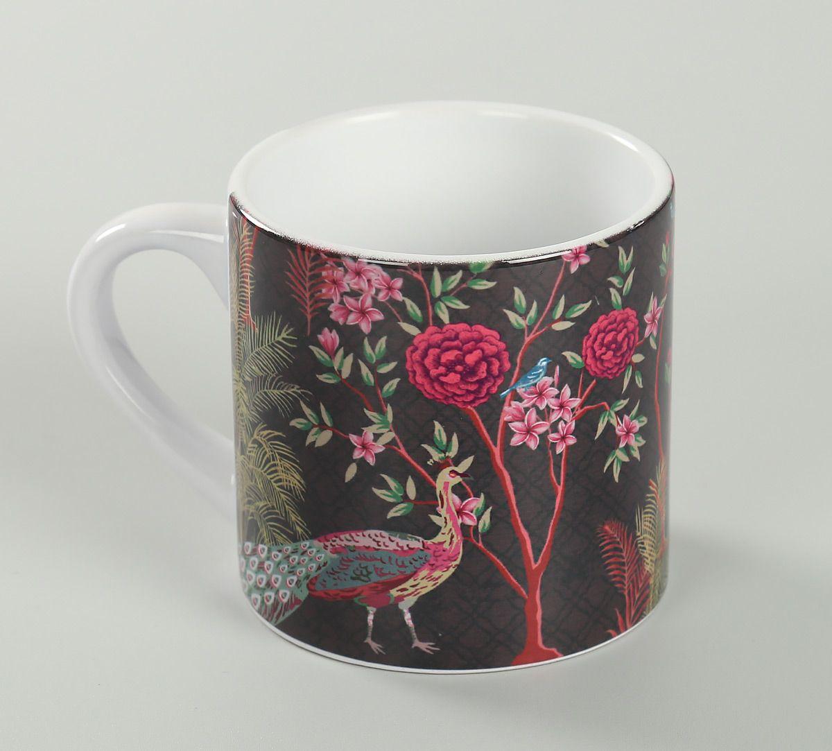 India Circus Peacock Garden Espresso Mug