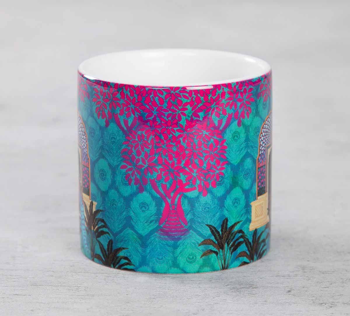 India Circus Phasianidae Monastery Coffee Mug Small
