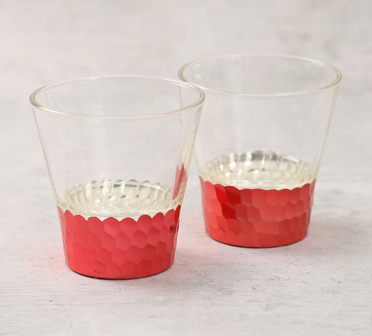 India Circus Pink Honeycomb Juice Glass (Set of 2)