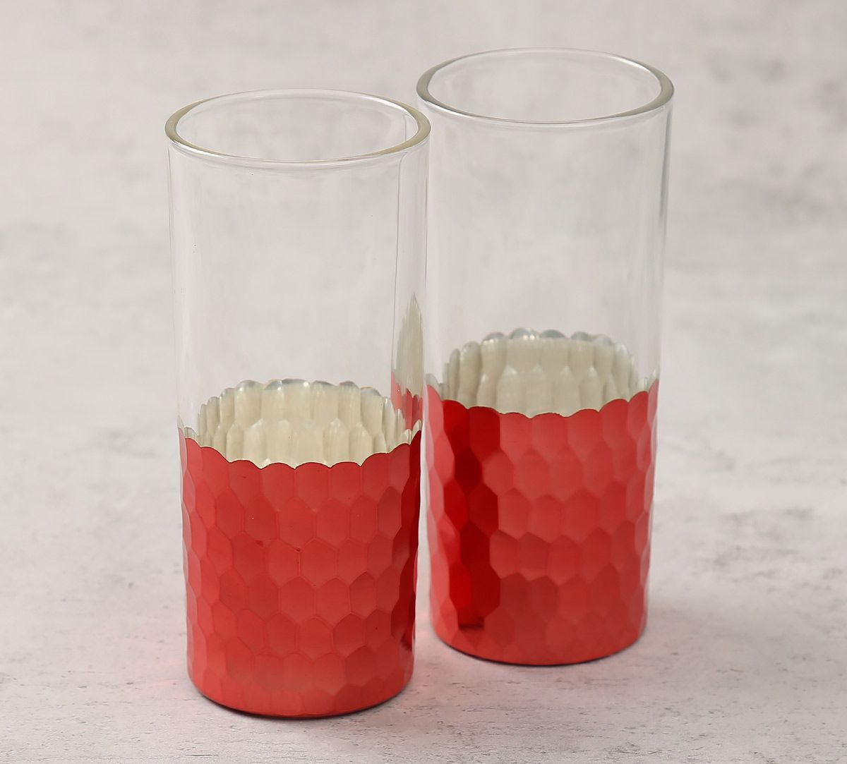 India Circus Pink Honeycomb Water Glass (Set of 2)