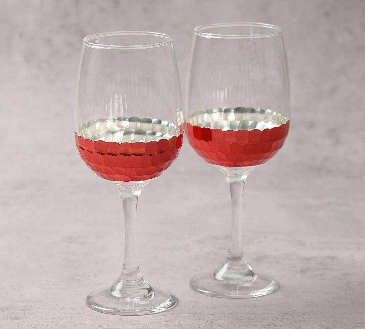 India Circus Pink Honeycomb Wine Glass (Set of 2)