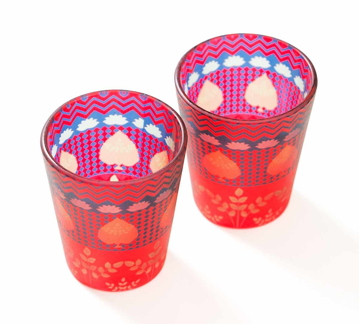 India Circus Placid Patterns Shot Glasses Set of 2