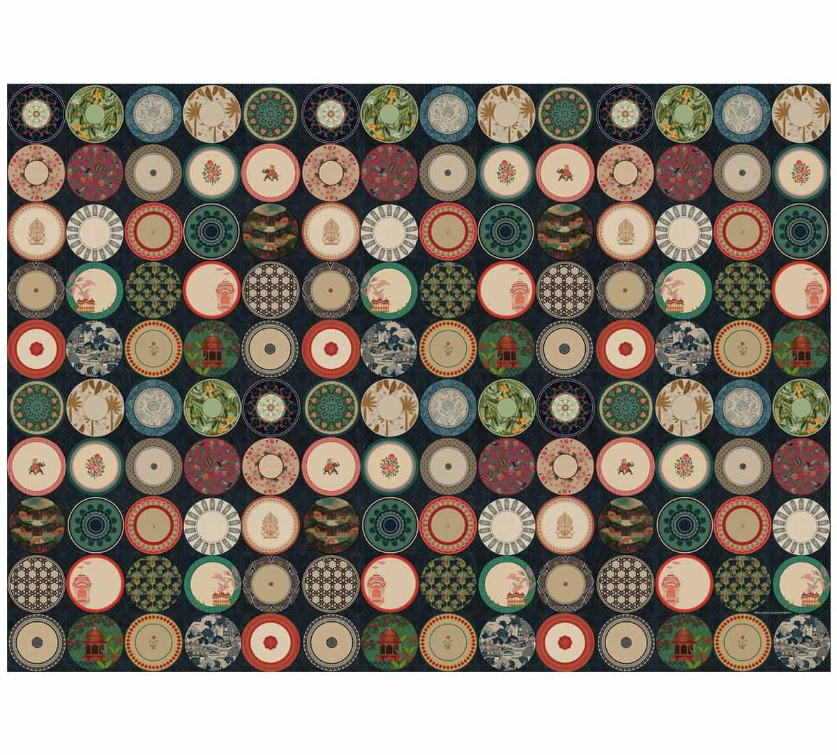 India Circus Platter Portrayal Gift Wrapping Paper
