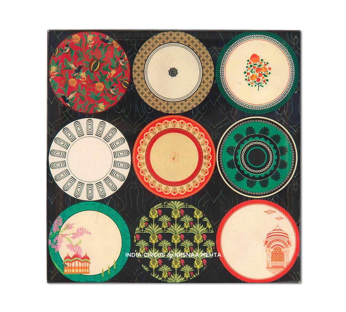 India Circus Platter Portrayal Table Coaster