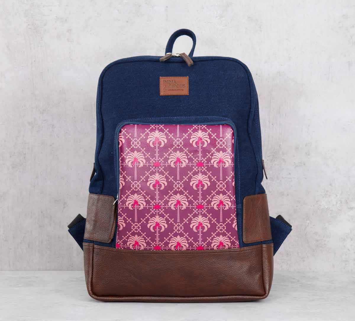 India Circus Poly Palmeria Denim Backpack
