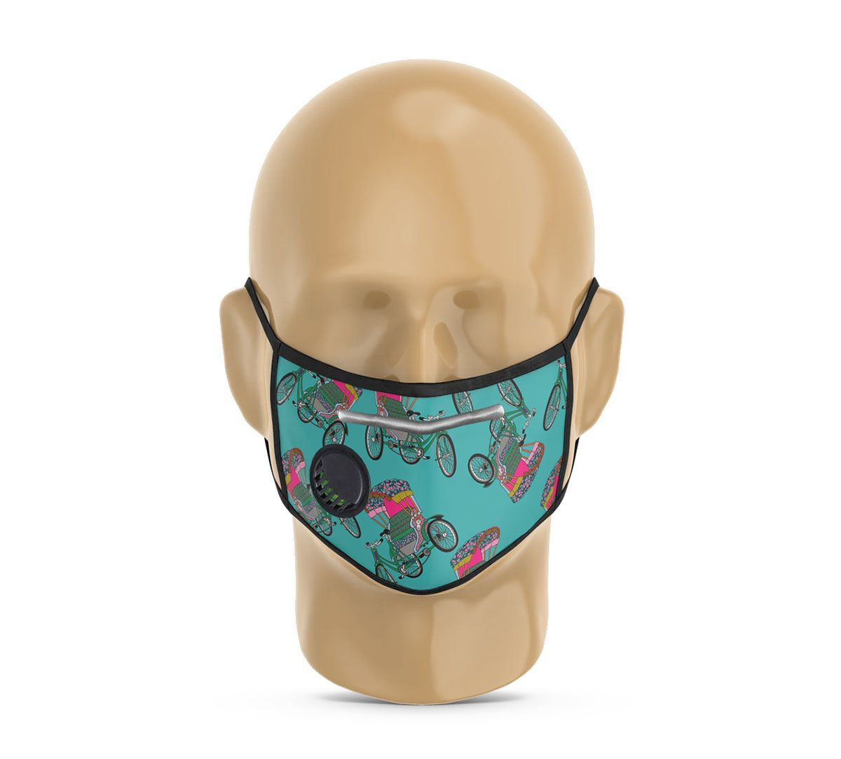India Circus Pop Tanga Protective Face Mask with Breathing Valve