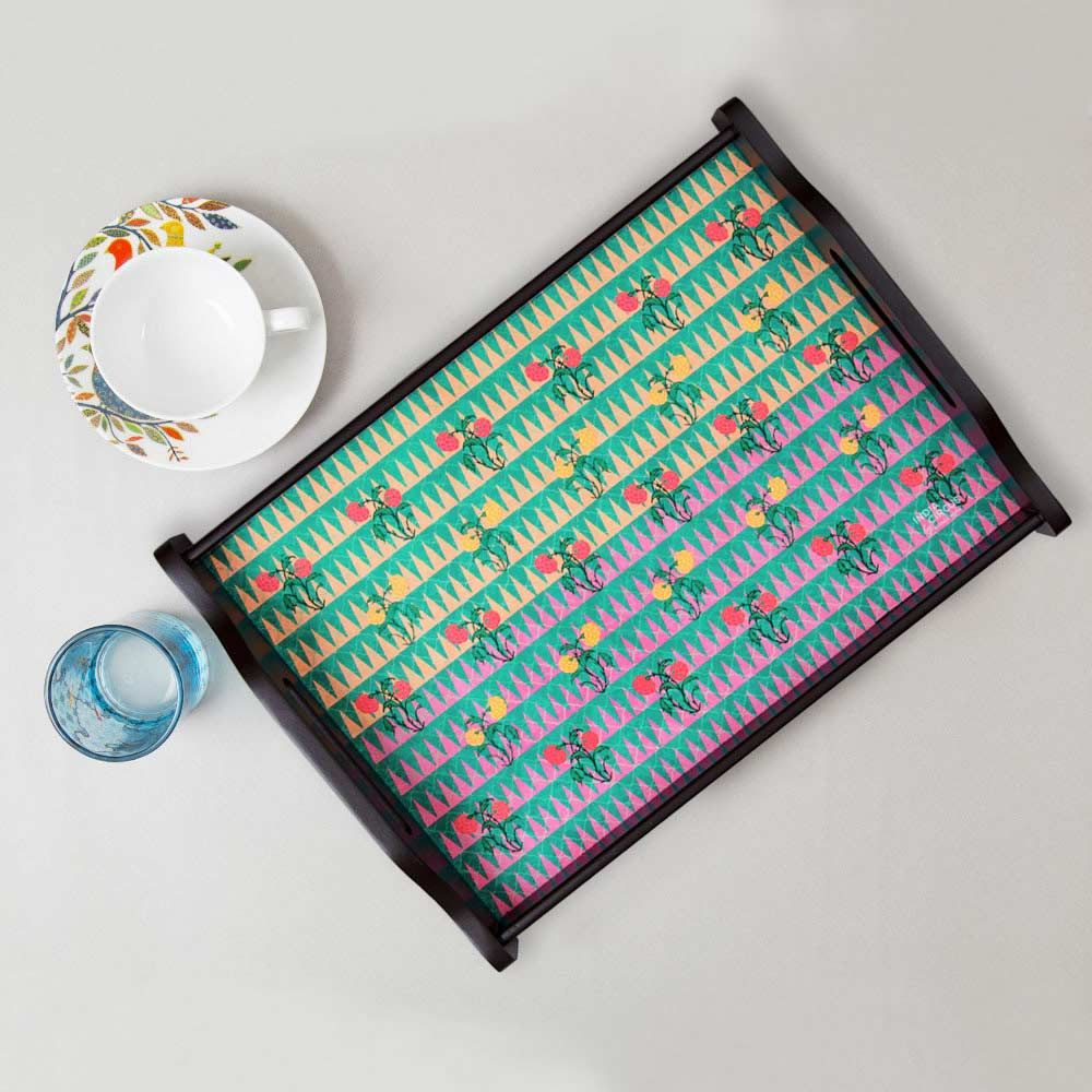 India Circus Poppin Tulips Tray