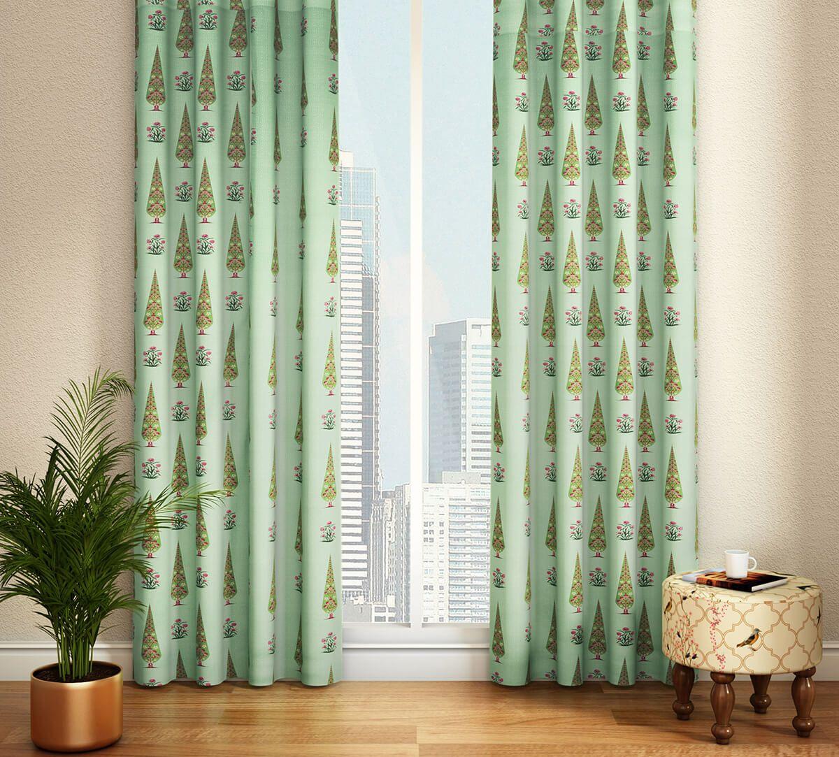 India Circus Poppy Conifer Door Curtain
