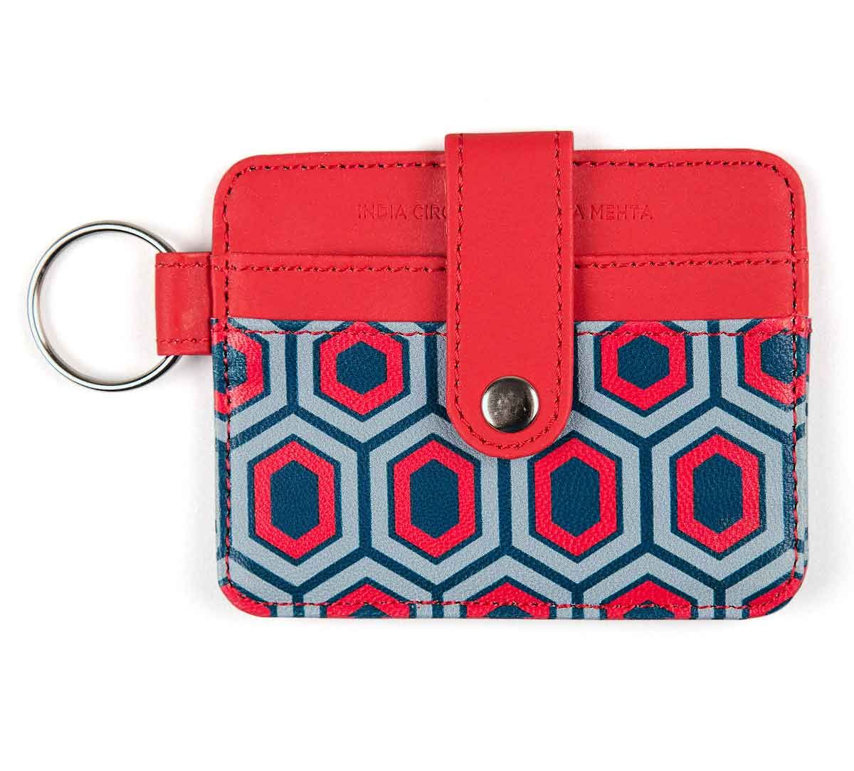 India Circus Prismatic Hexagons Keychain Card Holder