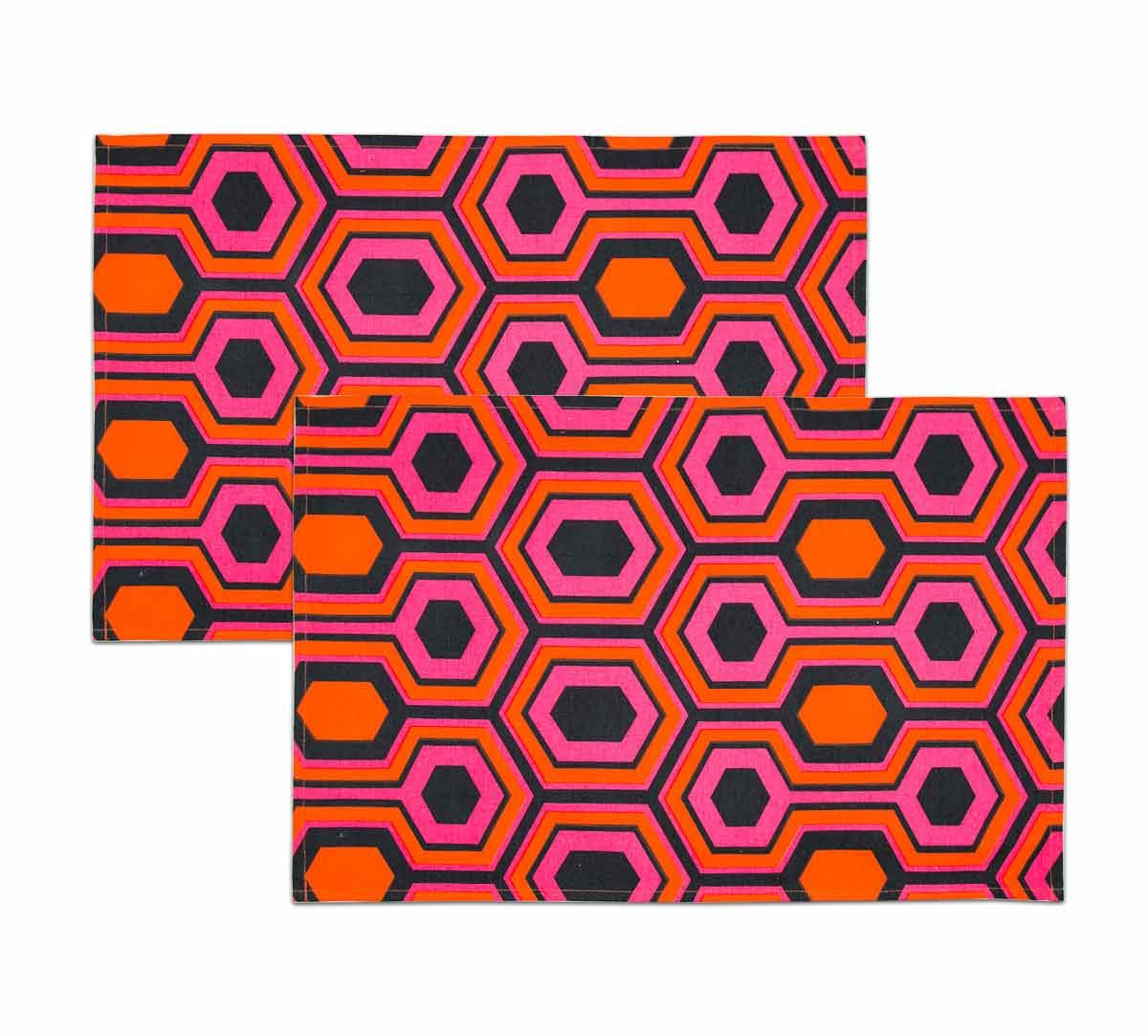 India Circus Prismatic Hexagons Kitchen Towel